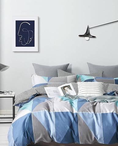 Bavlnená saténová posteľná bielizeň ALBS-01255B 160X200