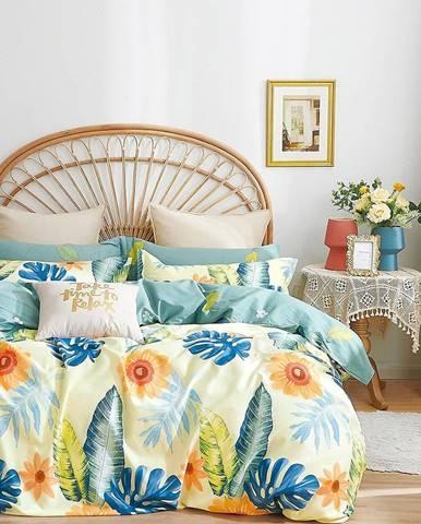 Bavlnená saténová posteľná bielizeň ALBS-01257B 160X200
