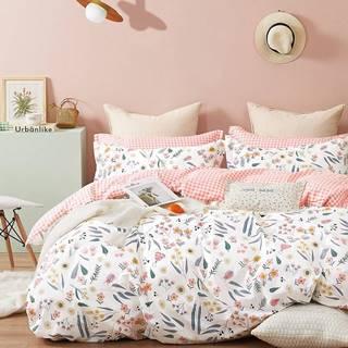 Bavlnená saténová posteľná bielizeň ALBS-01217B 160X200