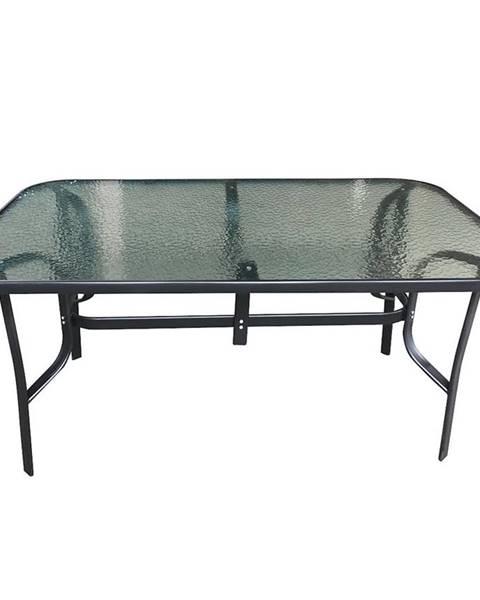 MERKURY MARKET Záhradný sklenený stôl 150x90x70 čierna
