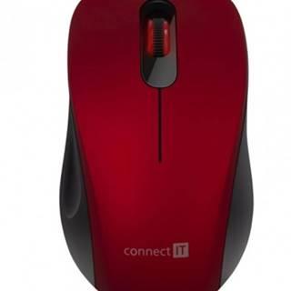 """Bezdrôtová tichá myš Connect IT """"MUTE"""", červená"""