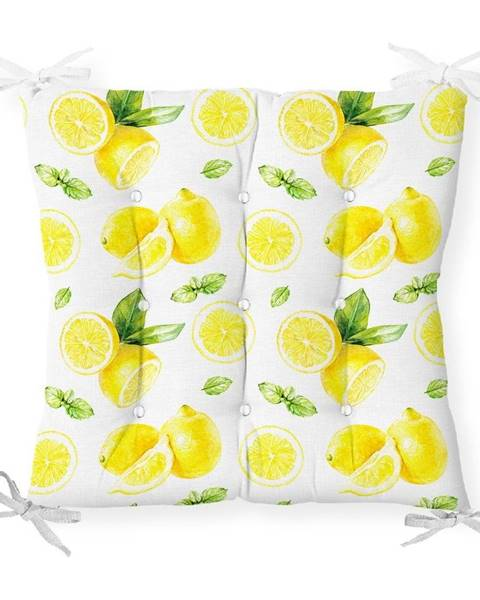 Minimalist Cushion Covers Sedák s prímesou bavlny Minimalist Cushion Covers Sliced Lemon, 40 x 40 cm