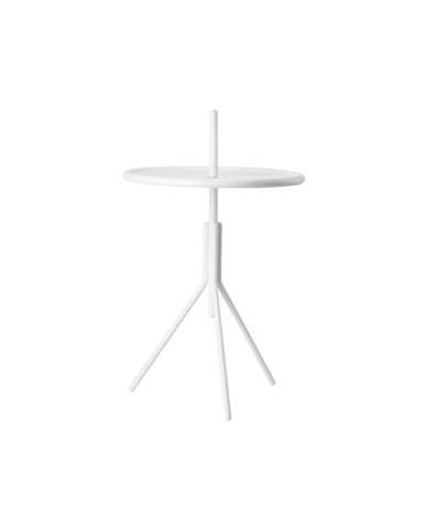 Biely kovový odkladací stolík Zone Inu, ø 33,8 cm