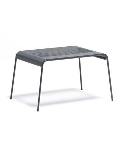Sivý kovový záhradný konferenčný stolík Ezeis Ambroise