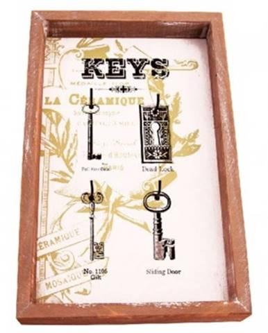 Nástenný panel na kľúče so 4 háčikmi 165011%