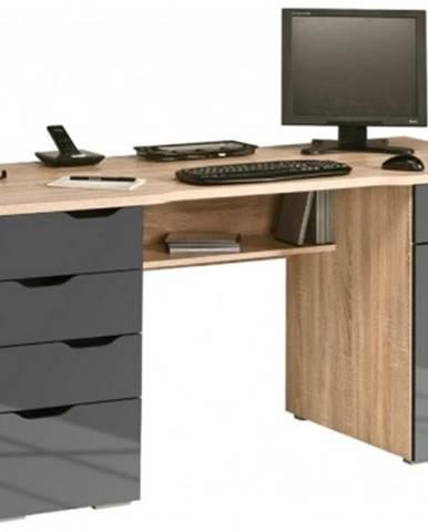 Písací stôl Model 9539, dub sonoma/šedý lesk%