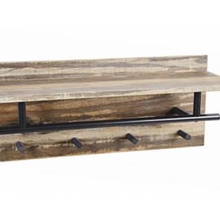 Vešiakový panel Lorine, vintage optika%