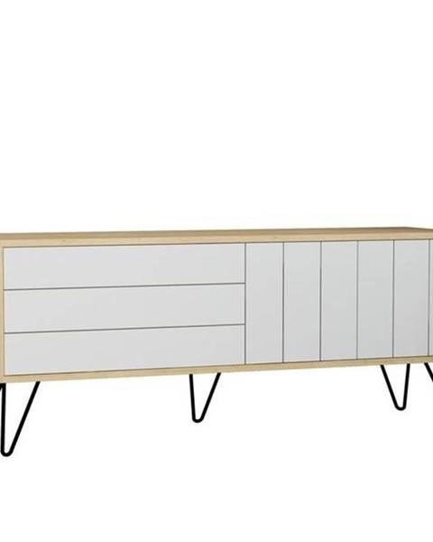 Sconto TV stolík PICADILLY dub/biela