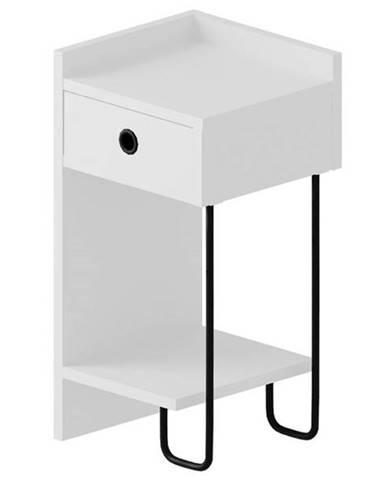 Nočný stolík CACTUS biela, pravé vyhotovenie
