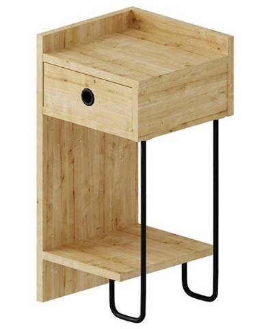 Nočný stolík CACTUS dub, pravé vyhotovenie