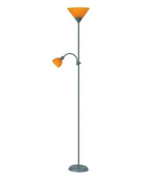 Rabalux Stojacia lampa  Rabalux Action 4026 strieborná / oranžová