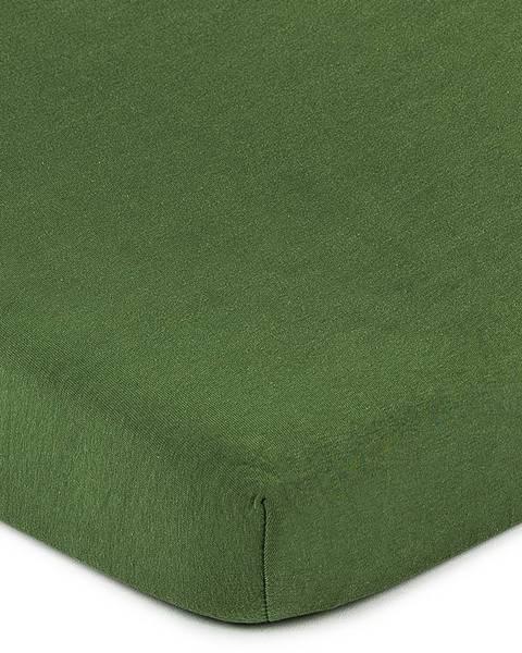 4Home 4Home jersey prestieradlo olivovozelená, 180 x 200 cm
