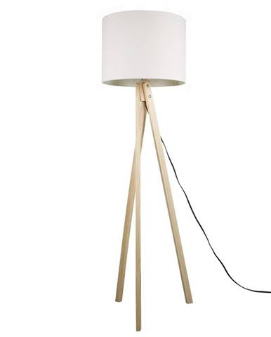 Stojacia lampa biela/prírodné drevo LILA TYP 6 LS2062