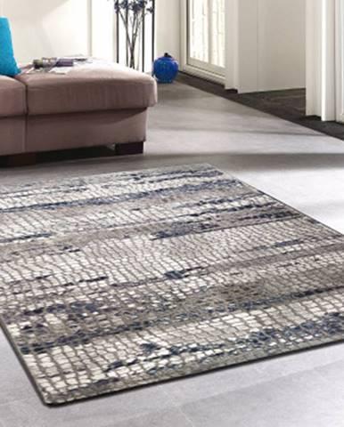 Koberec Velur 120x170 cm, šedo-modrý%