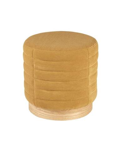 Žltý menčestrový puf sømcasa Saul