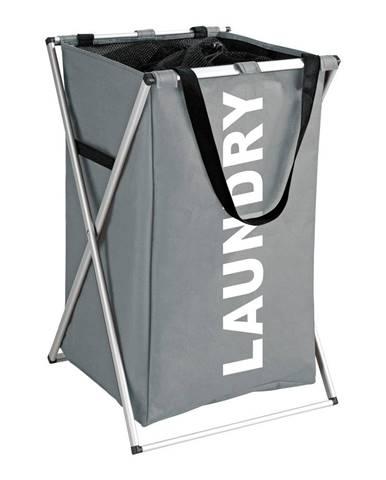 Sivý kôš na bielizeň Wenko Uno Laundry, 52 l