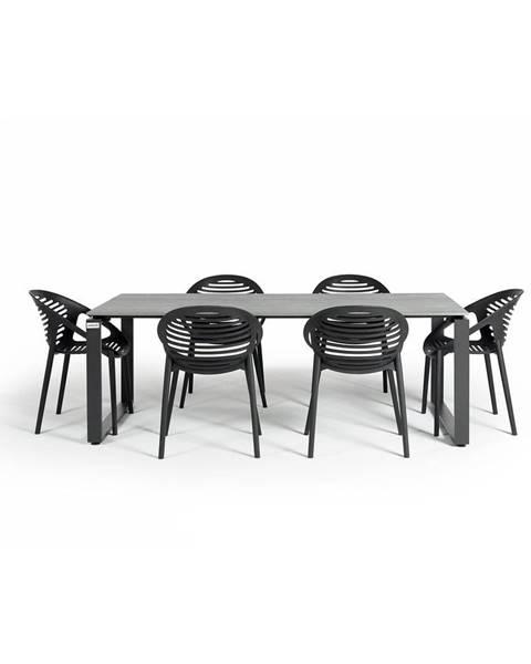 Le Bonom Záhradná súprava nábytku so 6 stoličkami Le Bonom Joanna Strong
