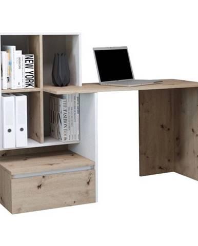 Písací stôl PACO 02 dub/biela