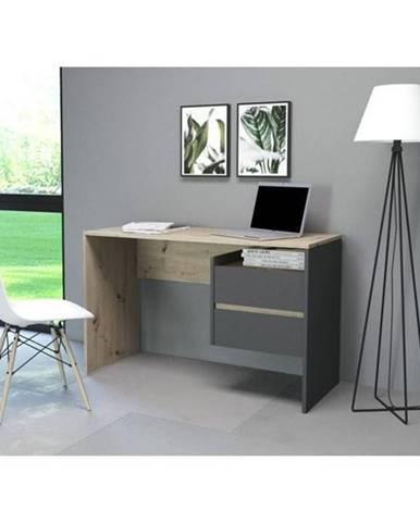 Písací stôl PACO 03 dub/sivá