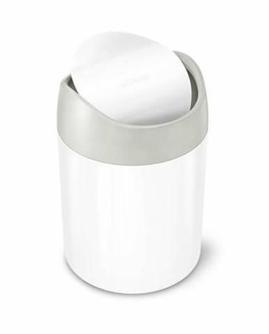 Simplehuman Odpadový kôš na stôl MINI 1,5 l, biela
