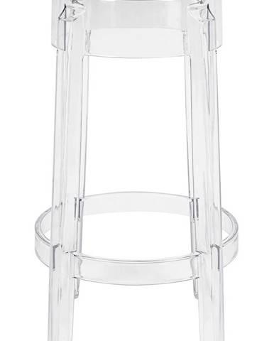 ArtKing Barová stolička CHARLES 65 transparentná