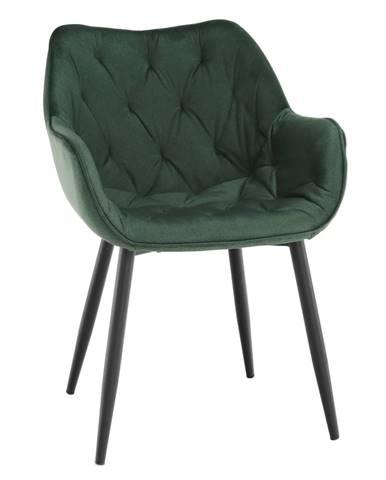 Dizajnové kreslo zelená Velvet látka FEDRIS rozbalený tovar