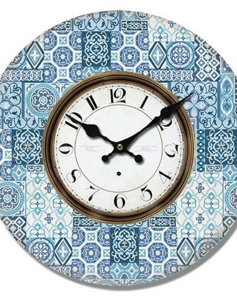 Banquet Drevené nástenné hodiny Mosaic tiles, pr. 34 cm