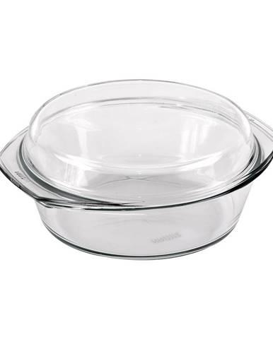 Simax Pekáč sklo okrúhly 1,5 l+0,6 l veko