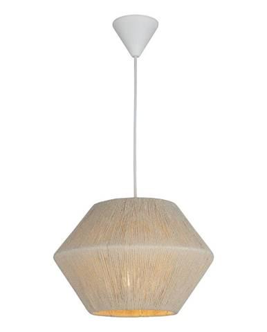 Bielo-béžové závesné svietidlo Homemania Decor Fero