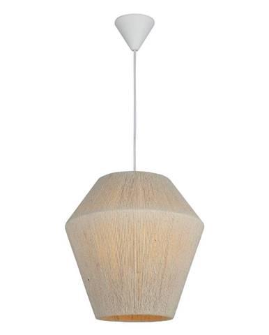 Bielo-béžové závesné svietidlo Homemania Decor Fero, výška 30 cm