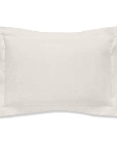 Béžová obliečka na vankúš z organickej bavlny Bianca Organic, 50 x 75 cm