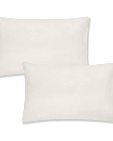Súprava 2 béžových obliečok na vankúš z organickej bavlny Bianca Organic, 50 x 75 cm