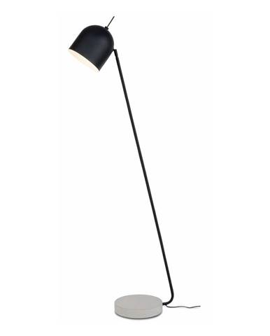 Čierna voľne stojacia lampa s betónovým podstavcom Citylights Madrid