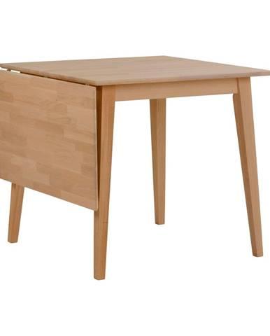 Prírodný sklápací dubový jedálenský stôl Rowico Mimi, 80 x 80cm