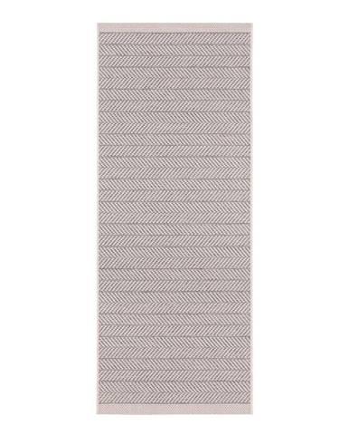 Sivobéžový vonkajší koberec Bougari Caribbean, 70 x 200 cm