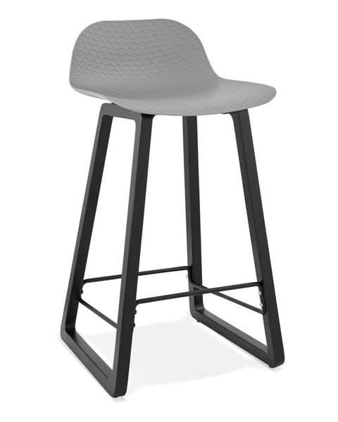 Kokoon Sivá barová stolička Kokoon Miky, výška sedu 69 cm