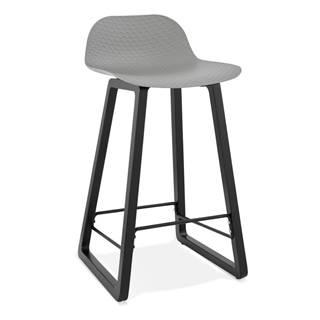 Sivá barová stolička Kokoon Miky, výška sedu 69 cm