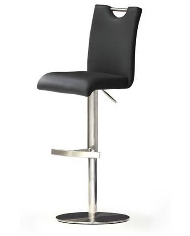Barová stolička HAILEY čierna/koža