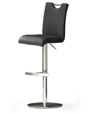 Barová stolička HAILEY čierna/syntetická koža