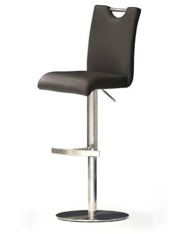 Barová stolička HAILEY hnedá/koža