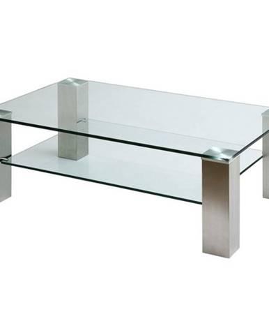 Konferenčný stolík AIDAN II oceľ/sklo