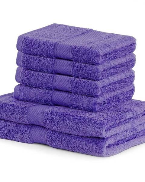 DecoKing DecoKing Sada uterákov a osušiek Bamby fialová, 4 ks 50 x 100 cm, 2 ks 70 x 140 cm