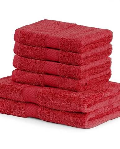 DecoKing Sada uterákov a osušiek Bamby červená, 4 ks 50 x 100 cm, 2 ks 70 x 140 cm