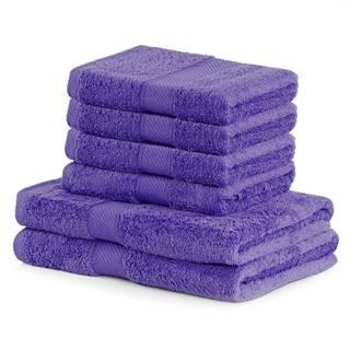 DecoKing Sada uterákov a osušiek Bamby fialová, 4 ks 50 x 100 cm, 2 ks 70 x 140 cm