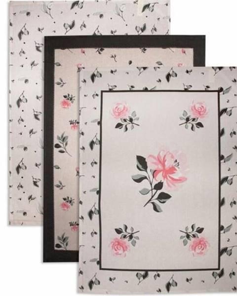 Kinekus Utierky 50x70 cm, sada 3 ks, kvety
