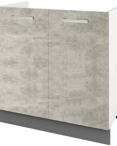 Skrinka do kuchyne Charlotte 80lc For The Kitchen Sink Grey Graphite/Light