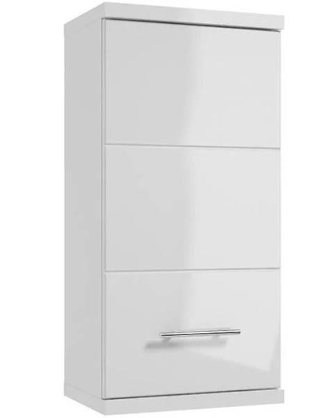 MERKURY MARKET Závesná skrinka do kúpeľňe Bari A35 1D0S DSM biela