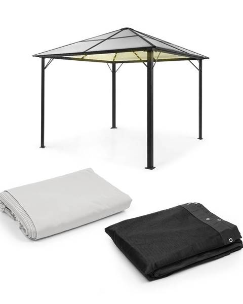 Blumfeldt Blumfeldt Pantheon Solid Sky Ambient Solar, pavilón, 3 × 3 m, solárne osvetlenie