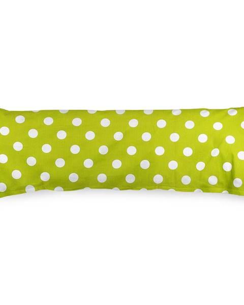 4Home 4Home Obliečka na Relaxačný vankúš Náhradný manžel Zelená bodka, 55 x 180 cm