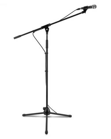 Auna KM 02, mikrofónový set, 4-dielny, stojan na mikrofón, svorka, kábel, 5 m